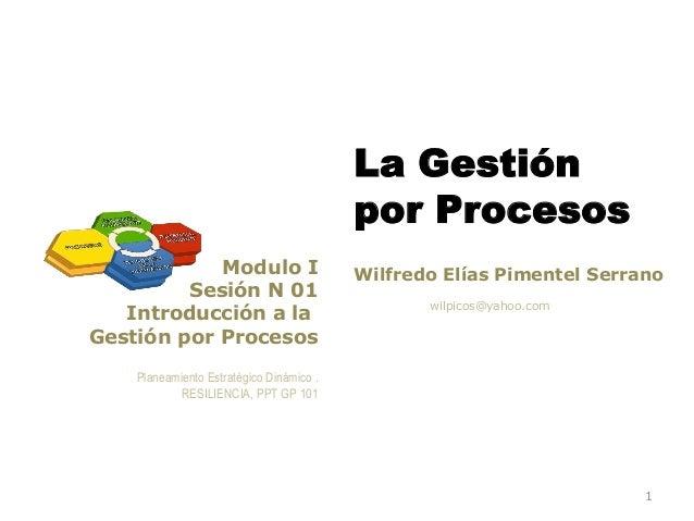 La Gestión                                          por Procesos            Modulo I                      Wilfredo Elías P...