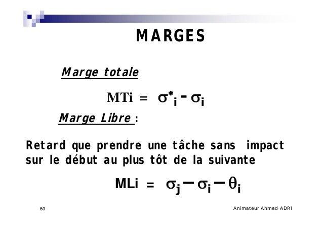 Management de projet 60 animateur ahmed adri60 marges marge totale marge libre ccuart Images