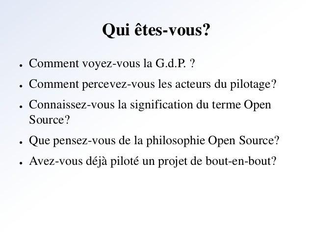 gestion de projet et les outils open source