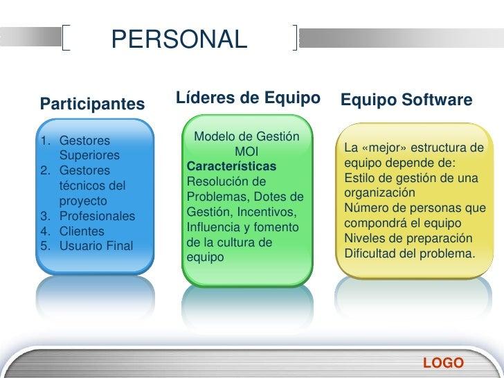 PERSONAL<br />Modelo de Gestión MOI <br />Características<br />Resolución de Problemas, Dotes de Gestión, Incentivos, Infl...