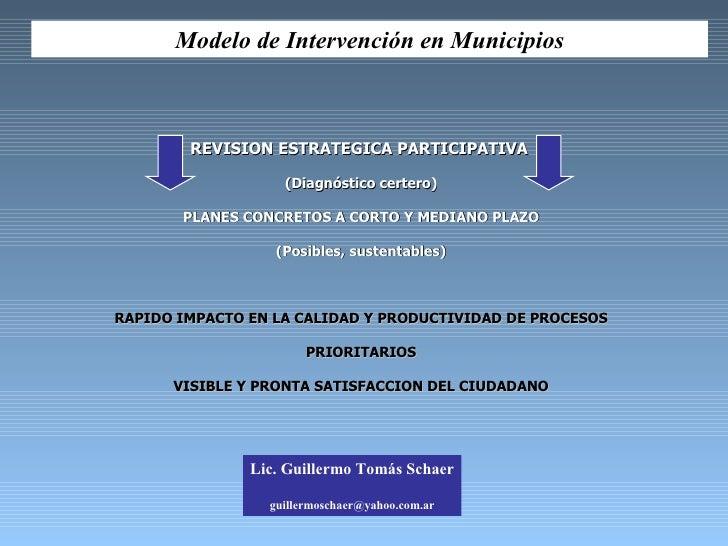 REVISION ESTRATEGICA PARTICIPATIVA   (Diagnóstico certero) PLANES CONCRETOS A CORTO Y MEDIANO PLAZO (Posibles, sustentable...