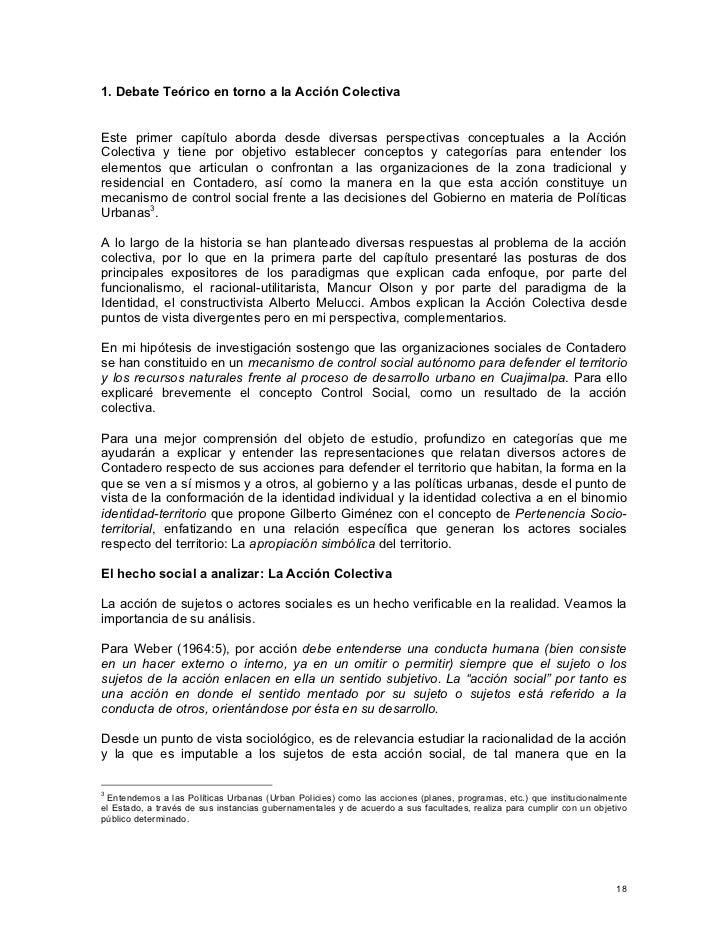 Acción Colectiva y Control Social en la Gestión Urbana de El Contader…