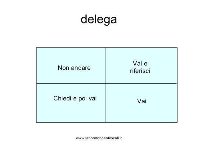 www.laboratorioentilocali.it delega Non andare Vai e riferisci Chiedi e poi vai Vai