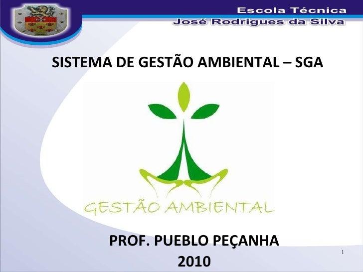 Prof. Pueblo Peçanha - Gestão ambiental slide 01