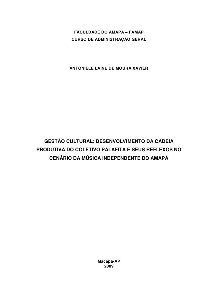 FACULDADE DO AMAPÁ – FAMAP            CURSO DE ADMINISTRAÇÃO GERAL                ANTONIELE LAINE DE MOURA XAVIER       GE...