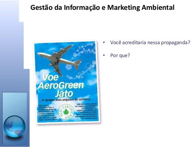Gestão da Informação e Marketing Ambiental Slide 2