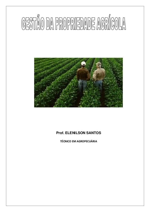 Prof. ELENILSON SANTOS TÉCNICO EM AGROPECUÁRIA