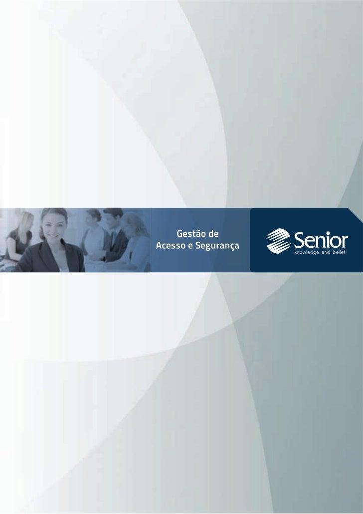 Folder Gestão de acesso e segurança