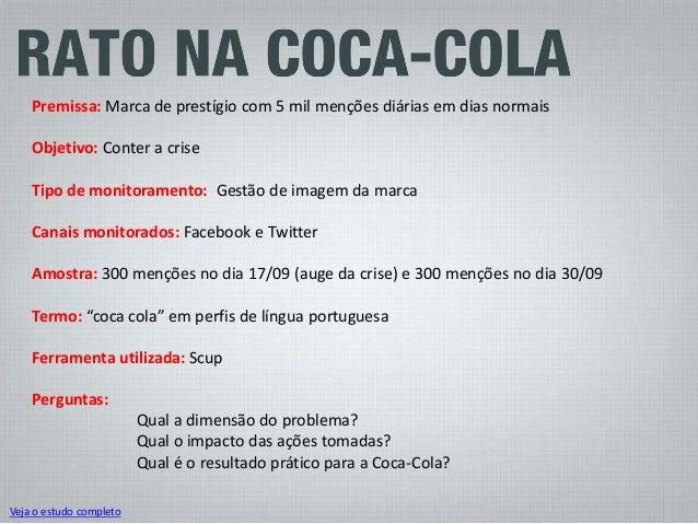 Conclusões: Qual é o resultado prático para a Coca-Cola? O comportamento do brasileiro na internet: ironia e humor Isso ev...