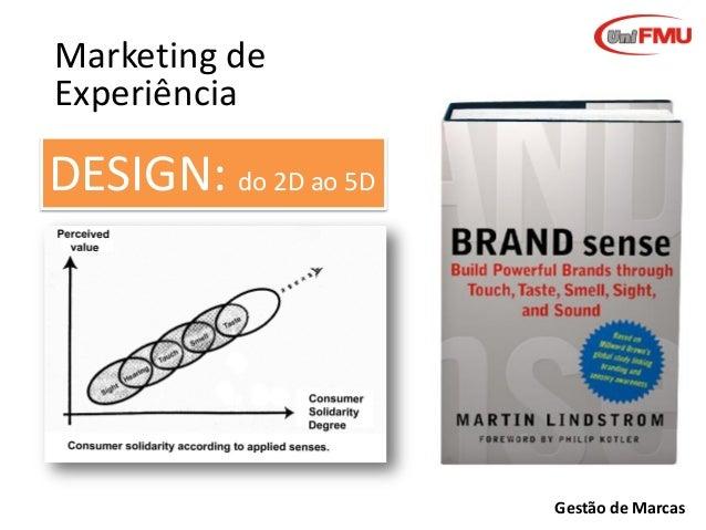 Marketing de Experiência  DESIGN: do 2D ao 5D  Gestão de Marcas
