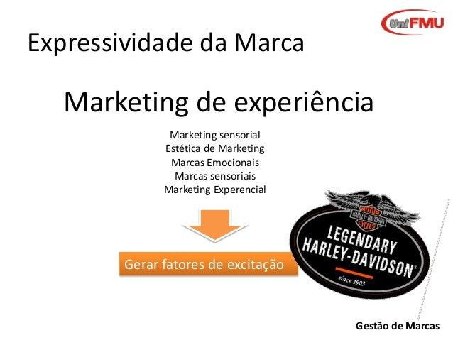 Expressividade da Marca  Marketing de experiência Marketing sensorial Estética de Marketing Marcas Emocionais Marcas senso...