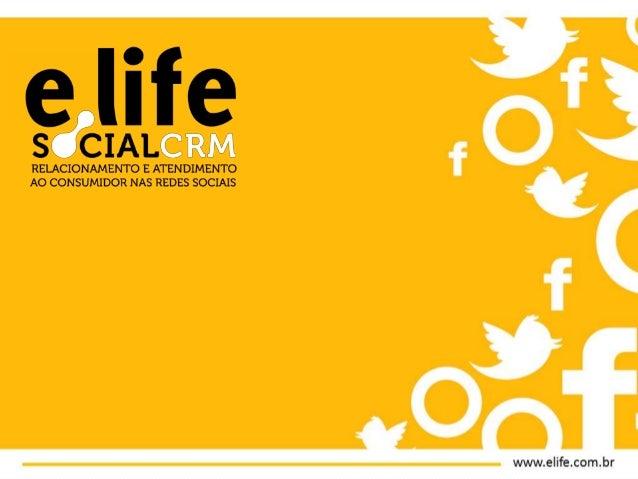 Programação      1               2                3     e.Life        Social CRM     Métricas e KPIs• Apresentação   • Pla...