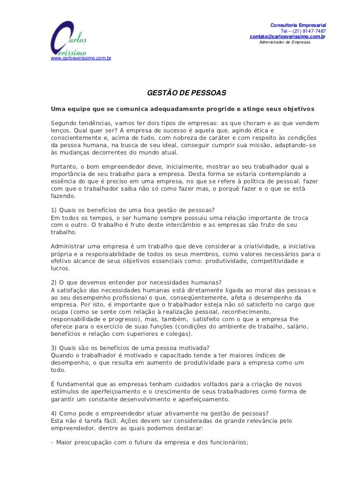 Consultoria Empresarial                                              MISSÃO:                                      Tel – (2...