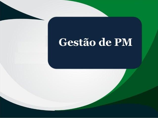 Gestão de PM