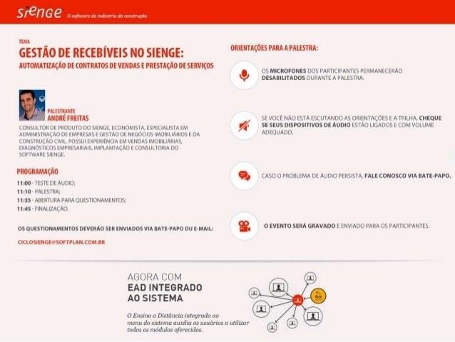 Gestão de Recebíveis no Sienge: Automatização de contratos de vendas e prestação de serviços