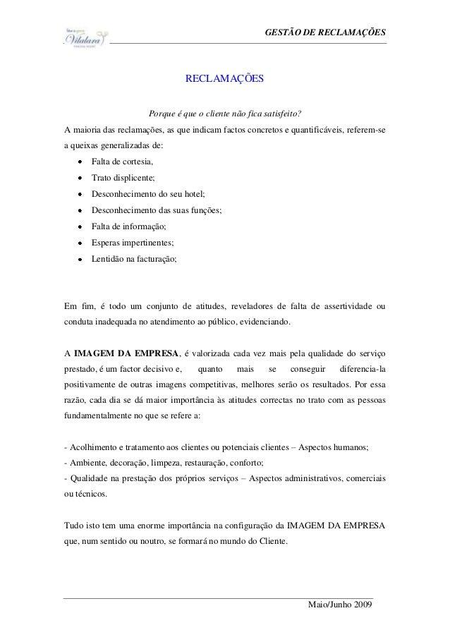 Ge                                                GESTÃO DE RECLAMAÇÕES                                    RECLAMAÇÕES    ...