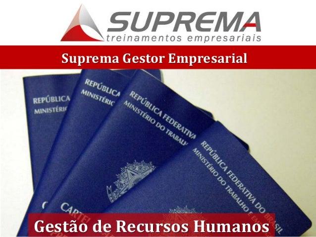 Suprema Gestor Empresarial Gestão de Recursos Humanos