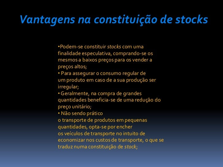 Vantagens e desvantagens do stock options