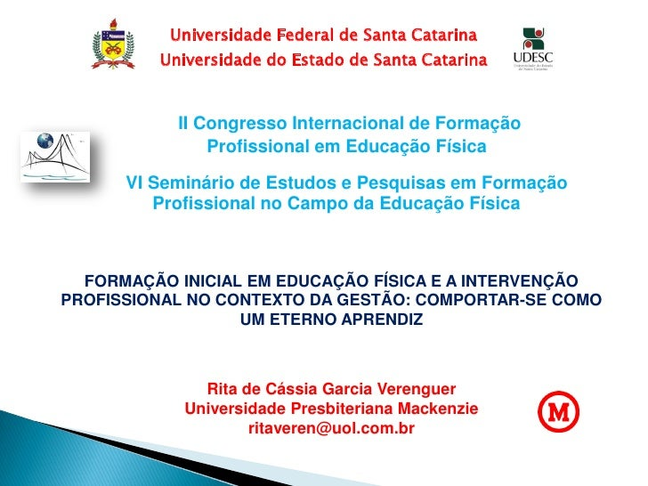 Universidade Federal de Santa Catarina         Universidade do Estado de Santa Catarina           II Congresso Internacion...