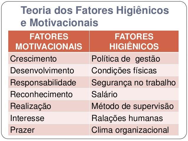 Teorias Motivacionais Organização Do Trabalho Dissertação