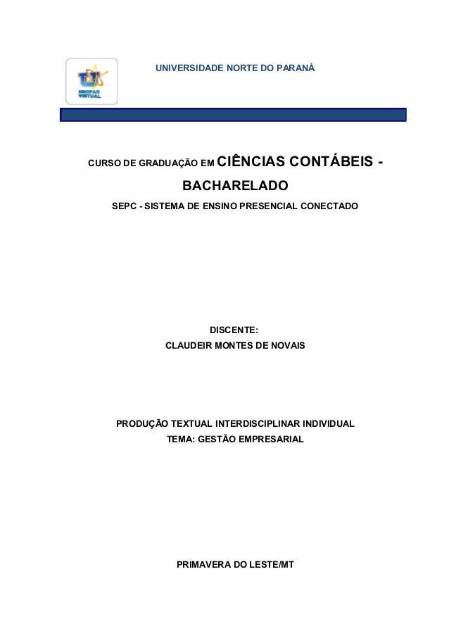 Produção textual individual  pti temática interdisciplinar curso adm cco e eco 3