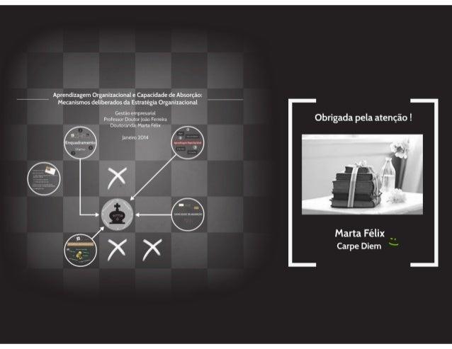 Aprendizagem Organizacional e Capacidade de Absorção: Mecanismos Deliberados da Estratégia Organizacional