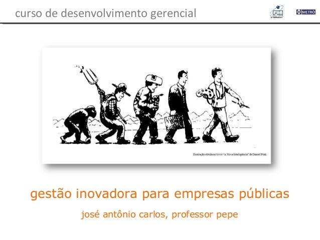 curso de desenvolvimento gerencial  gestão inovadora para empresas públicas josé antônio carlos, professor pepe