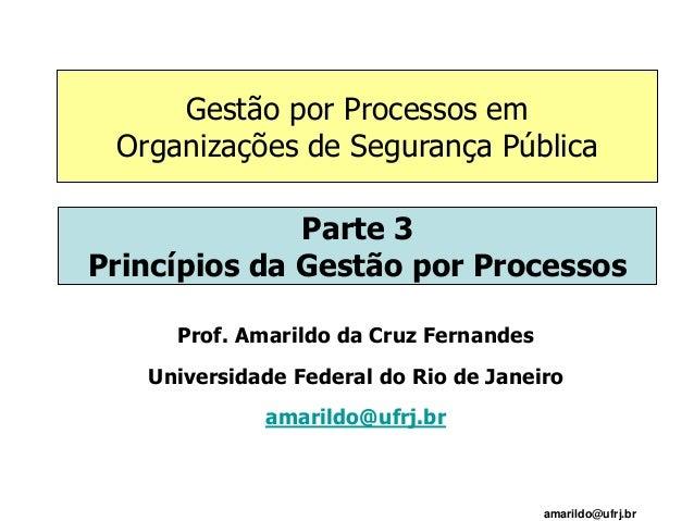 amarildo@ufrj.br Prof. Amarildo da Cruz Fernandes Universidade Federal do Rio de Janeiro amarildo@ufrj.br Parte 3 Princípi...