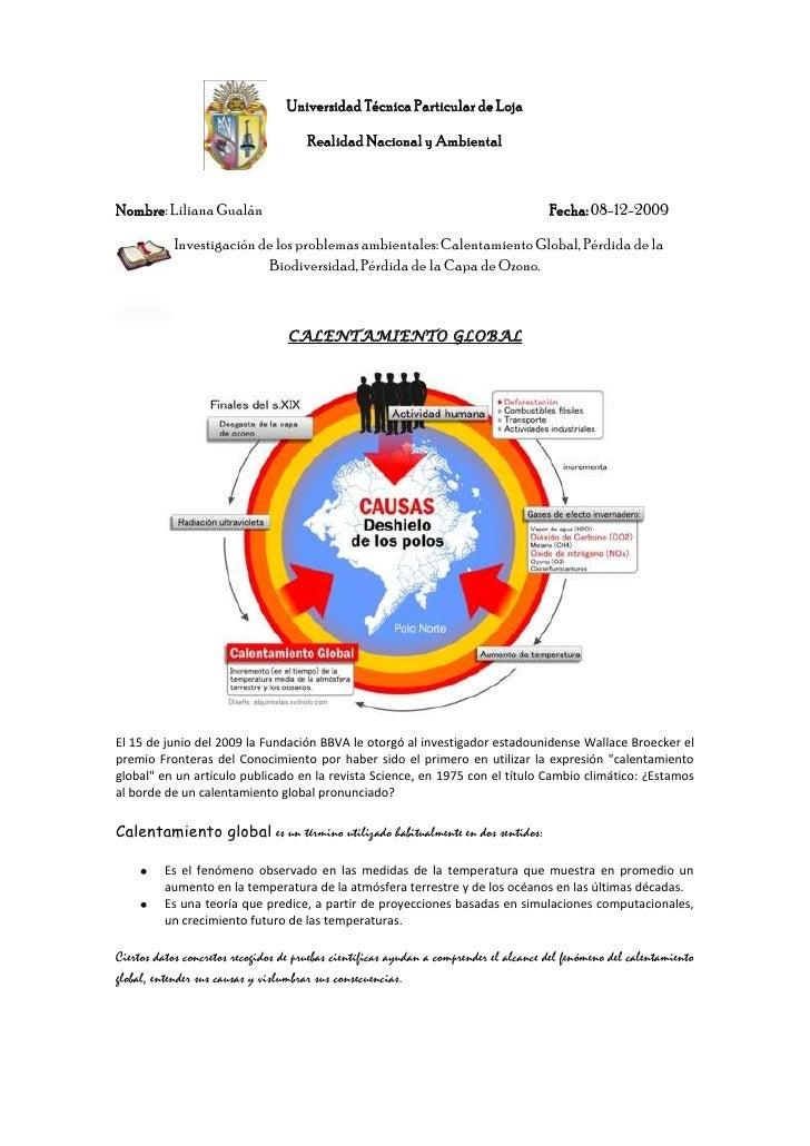 828329-147320Universidad Técnica Particular de Loja<br />Realidad Nacional y Ambiental<br />Nombre: Liliana GualánFecha: 0...