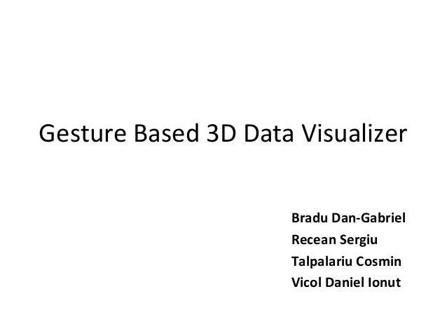 Gesture Based 3D Data Visualizer Bradu Dan-Gabriel Recean Sergiu Talpalariu Cosmin Vicol Daniel Ionut