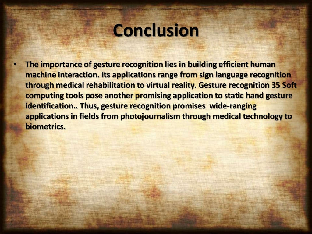 Gesture recognition adi