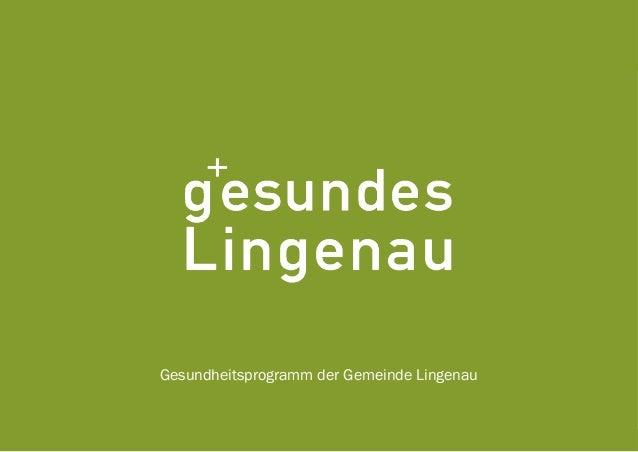 Gesundheitsprogramm der Gemeinde Lingenau