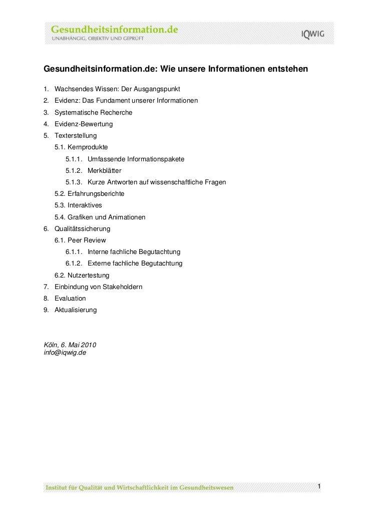 Gesundheitsinformation.de: Wie unsere Informationen entstehen1. Wachsendes Wissen: Der Ausgangspunkt2. Evidenz: Das Fundam...
