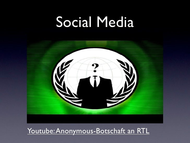 Social MediaYoutube: Anonymous-Botschaft an RTL