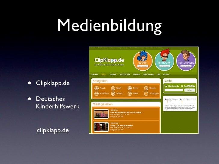 Medienbildung•   Clipklapp.de•   Deutsches    Kinderhilfswerk    clipklapp.de