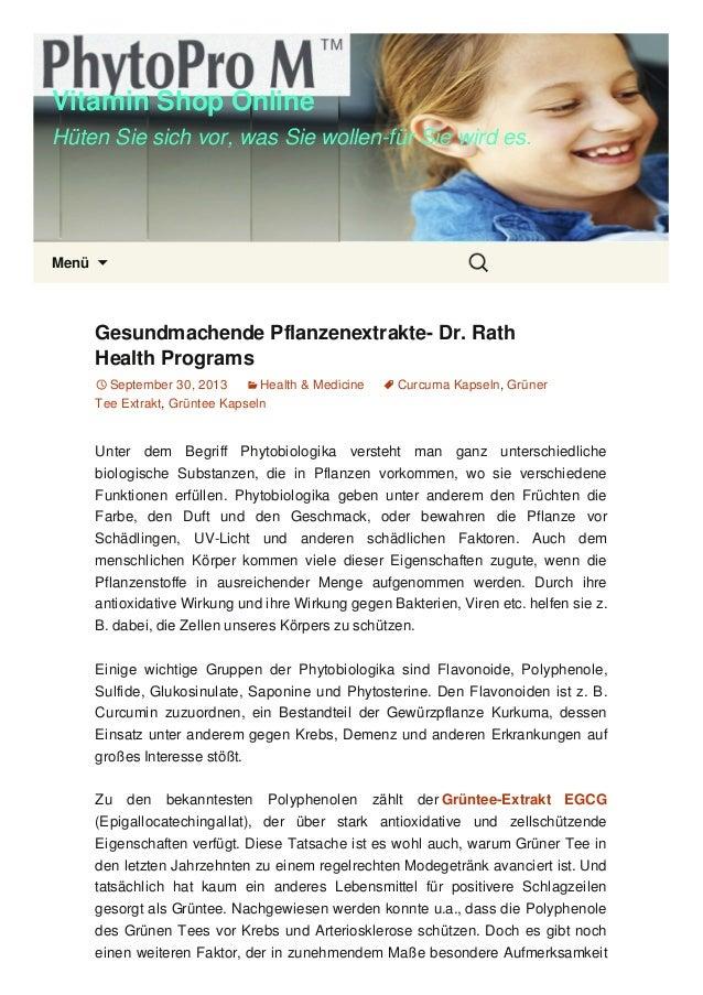 Vitamin Shop Online Hüten Sie sich vor, was Sie wollen-für Sie wird es. Menü  Gesundmachende Pflanzenextrakte- Dr. Rath H...