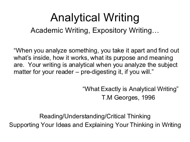 Analytical expository essay topics