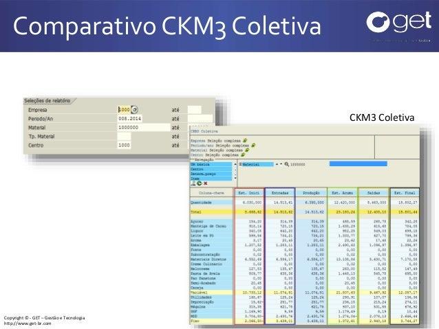 Copyright © - GET – Gestão e Tecnologia http://www.get-br.com Comparativo CKM3 Coletiva 8 CKM3 Coletiva