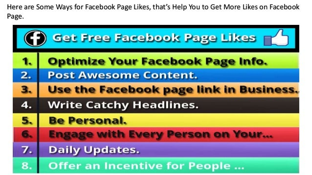 Get Free Facebook Page Likes: Secret Information For 2019