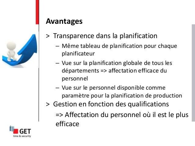 > Transparence dans la planification – Même tableau de planification pour chaque planificateur – Vue sur la planification ...