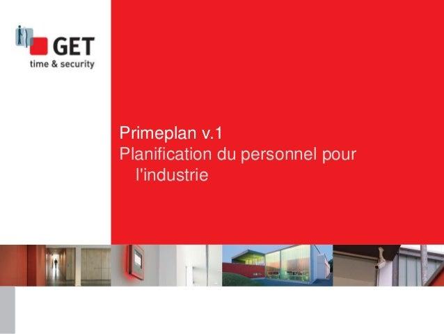 Primeplan v.1 Planification du personnel pour l'industrie