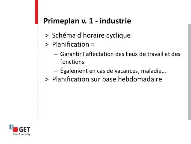 > Schéma d'horaire cyclique > Planification = – Garantir l'affectation des lieux de travail et des fonctions – Également e...
