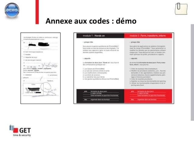 Annexe aux codes : démo