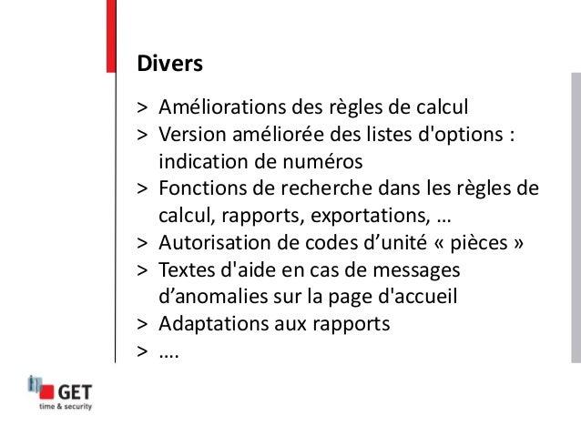 > Améliorations des règles de calcul > Version améliorée des listes d'options : indication de numéros > Fonctions de reche...