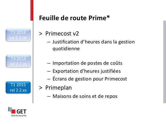 > Primecost v2 – Justification d'heures dans la gestion quotidienne – Importation de postes de coûts – Exportation d'heure...