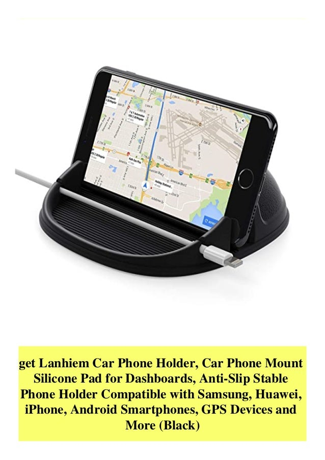 get Lanhiem Car Phone Holder, Car Phone Mount Silicone Pad for Dashboards, Anti-Slip Stable Phone Holder Compatible with S...