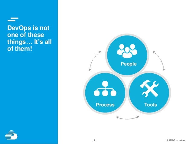 7 © IBM Corporation DevOps is not one of these things… It's all of them! People Process Tools