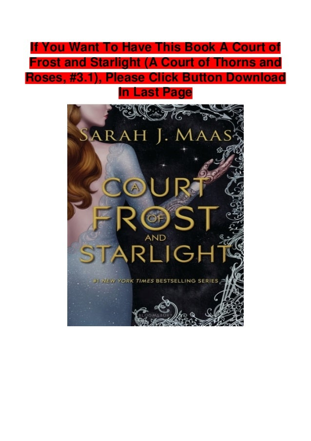 Download A Court Of Frost And Starlight A Court Of Thorns And Roses 31 By Sarah J Maas