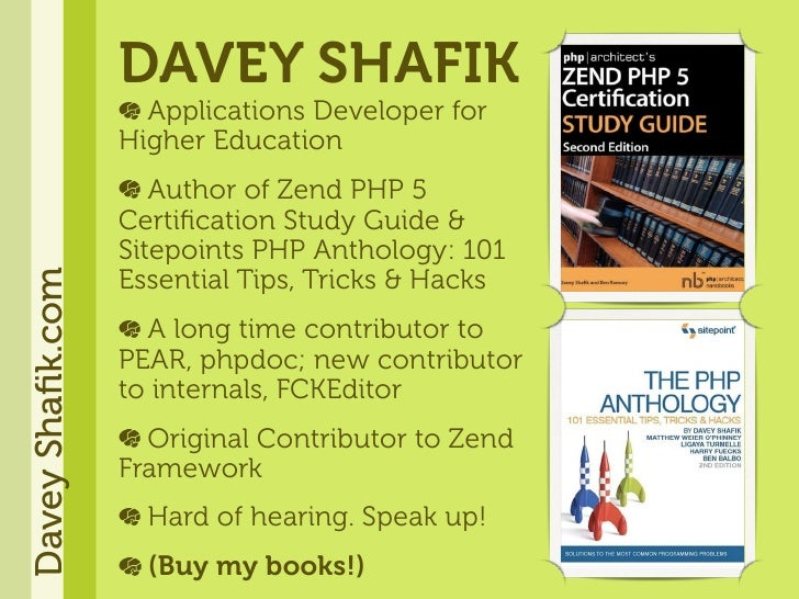 DAVEY SHAFIK                     Applications Developer for                   Higher Education                      Author...