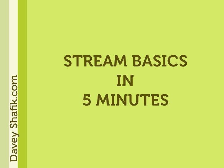 STREAM BASICS                         IN Davey Shafik.com                         5 MINUTES